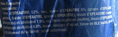 Pain epeautre - Ingredients