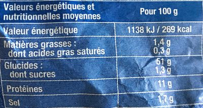 Pain epeautre - Nutrition facts