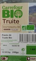 Truite Bio Carrefour - Ingredients