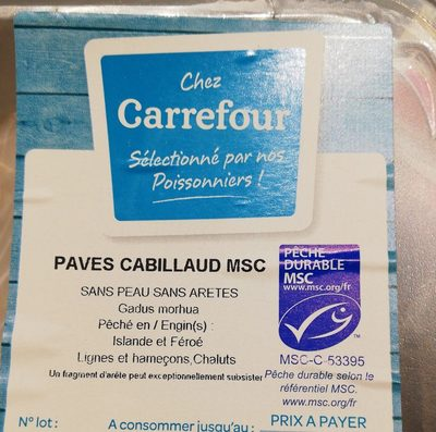 Cabillaud - Ingrediënten