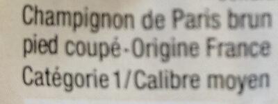 Champignon brun - Ingrédients - fr