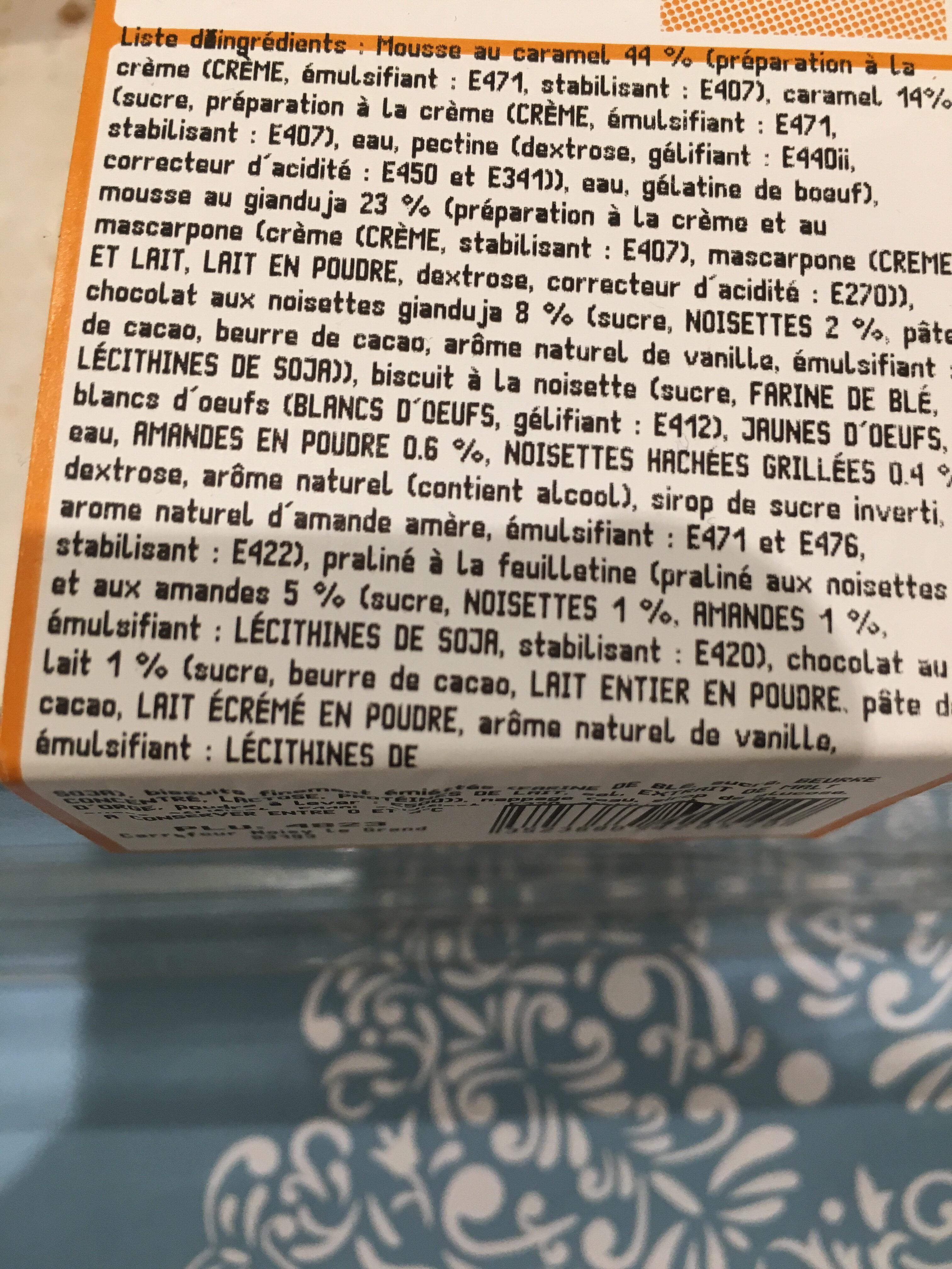 Caramel Noisette - Ingredientes - fr