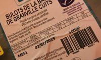 Bulots de la baie de Granville cuits - Nutrition facts - fr