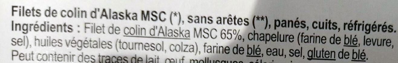 Filets de colin d'Alaska panés - Ingrediënten - fr