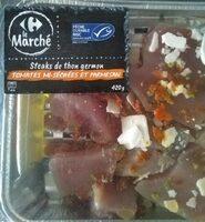 Steaks de thon germon tomates séchées parmesan - Produit - fr
