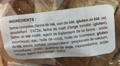 Pain de Mie Complet - Ingrédients - fr