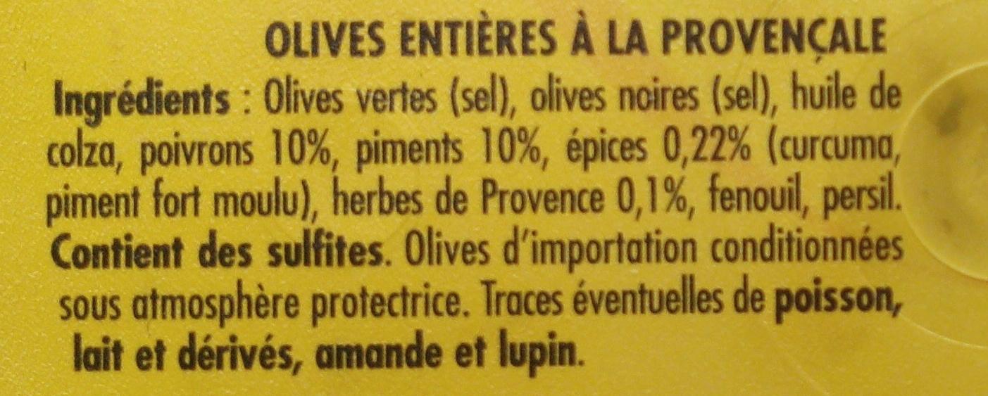 Olives à la Provençale entières - Ingrediënten - fr