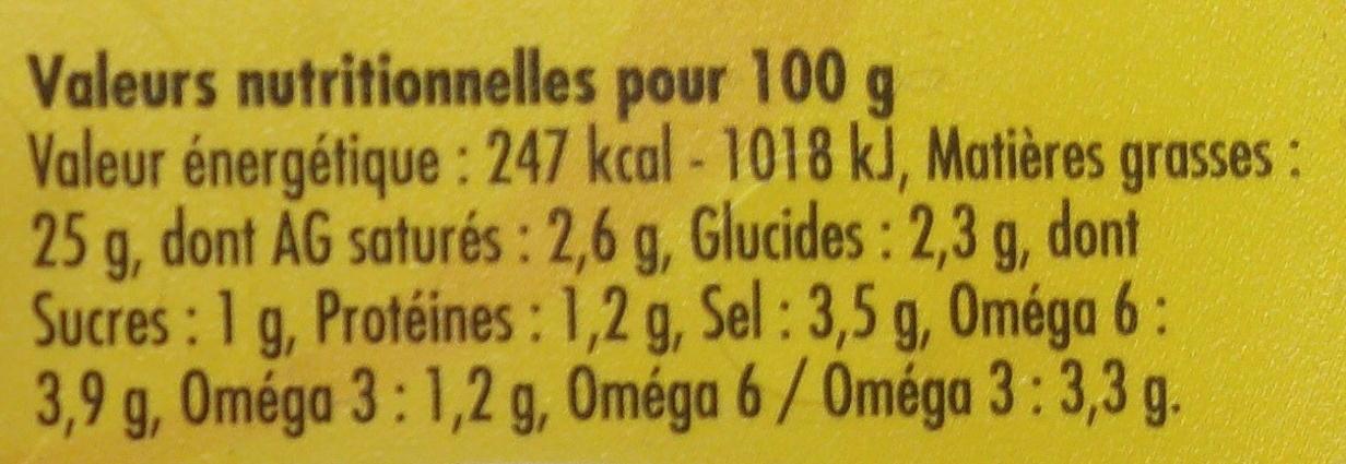 Olives à la Provençale entières - Voedingswaarden - fr