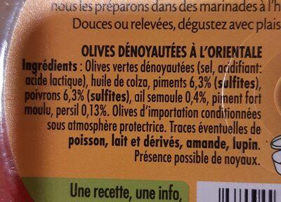 Olives à l'orientale - Ingrediënten - fr
