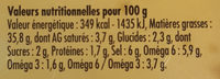 Olives aux Herbes - Nutrition facts