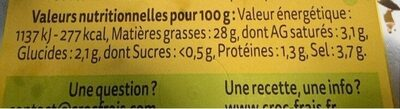 Olives aux Herbes - Nutrition facts - fr