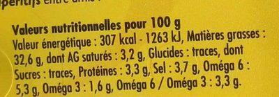 Olives aux amandes farcies doux - Voedingswaarden