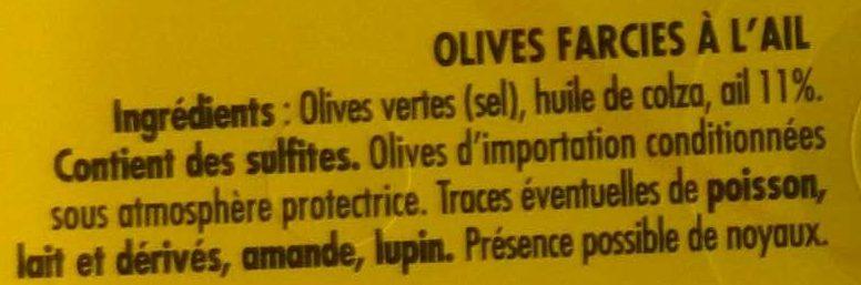 Olives à l'Ail farcies relevé - Ingrediënten - fr