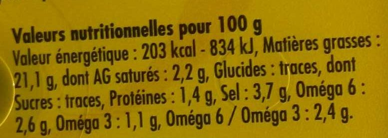 Olives à l'Ail farcies relevé - Voedingswaarden - fr