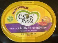 Olives dénoyautées à la méditerranéenne, CROC'FRAIS, barquette - Product - fr