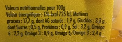 Olives dénoyautées à la méditerranéenne, CROC'FRAIS, barquette - Voedingswaarden - fr