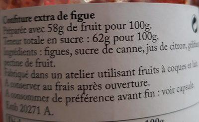 Figue - Ingredients