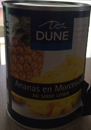 Ananas en morceaux au sirop leger - Produit - fr