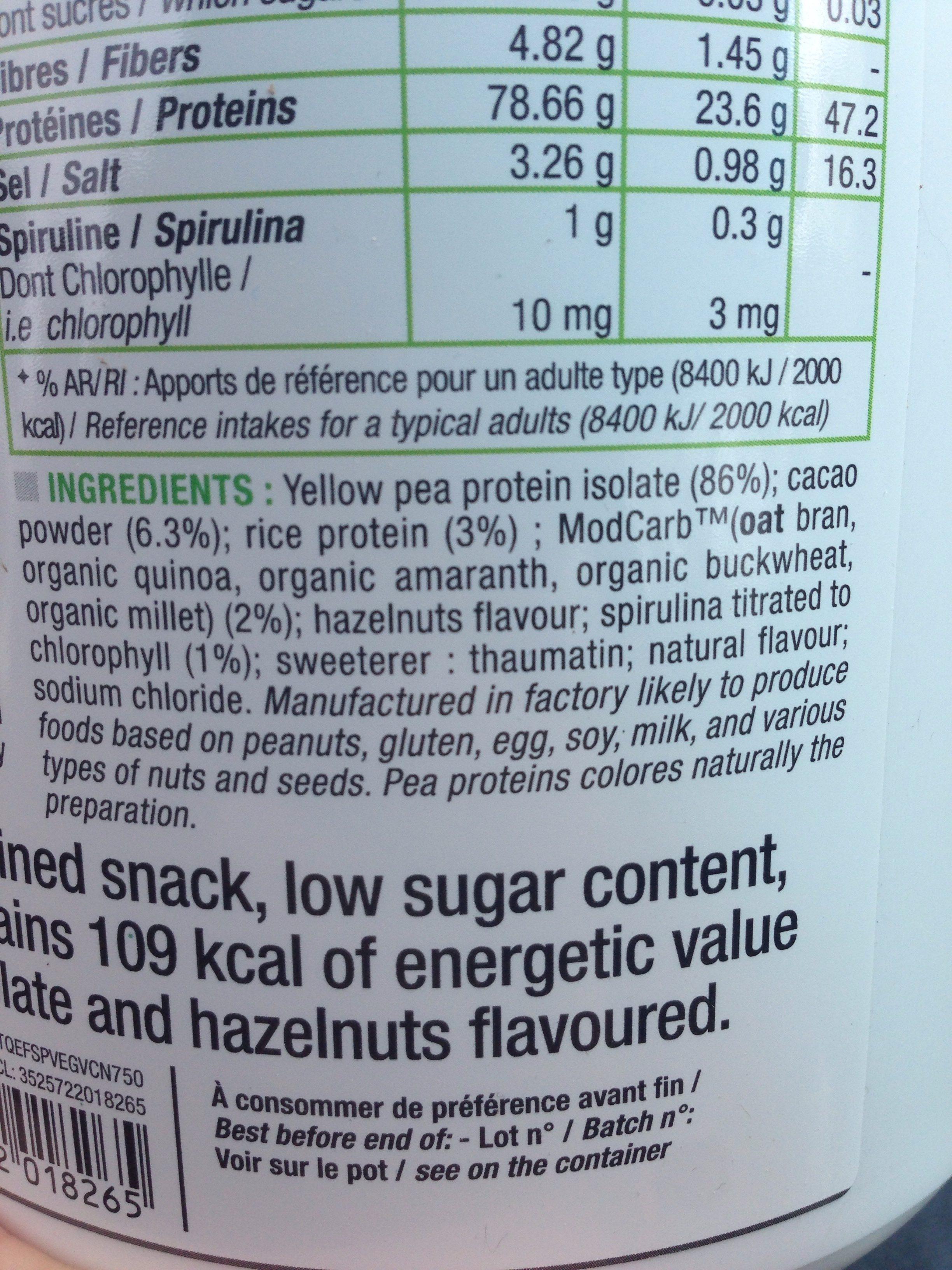 Protein Vegan Chocolat - Ingrediënten