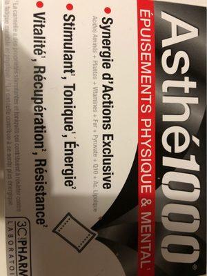 Asthe1000 Epuisement Physique Et Mental 10 Sachets - Product - fr