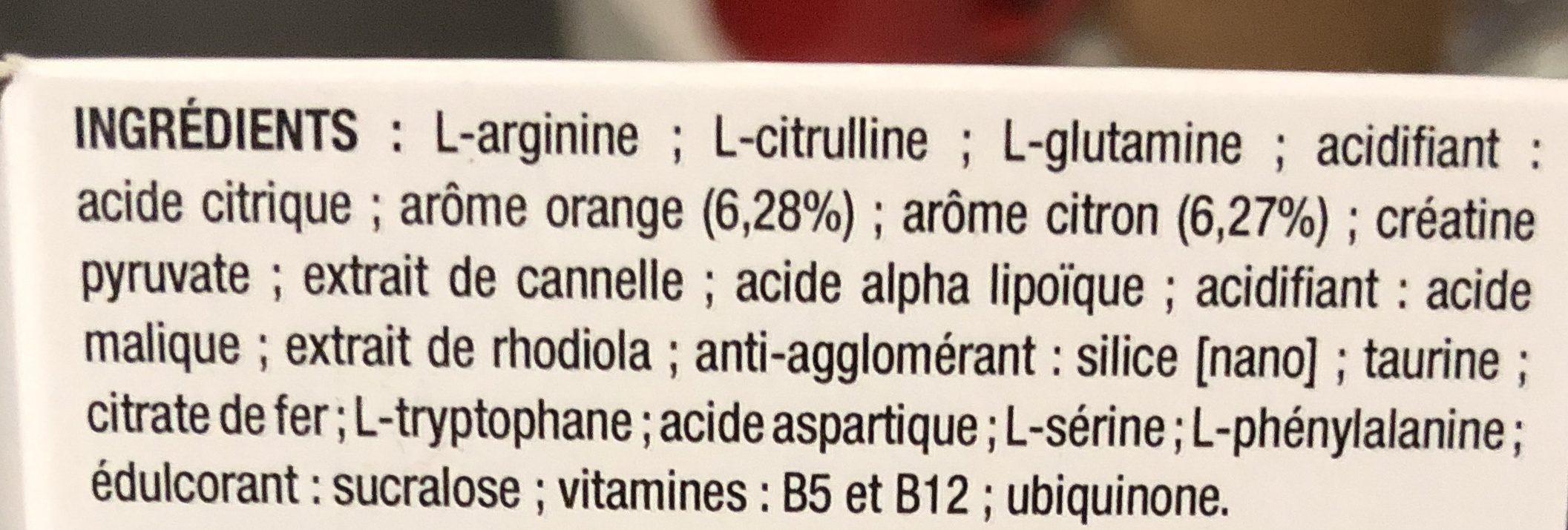 Asthe1000 Epuisement Physique Et Mental 10 Sachets - Ingredients - fr