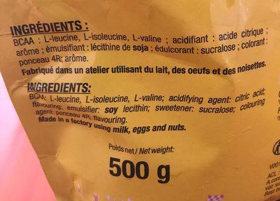 BCAA - Ingrédients - fr