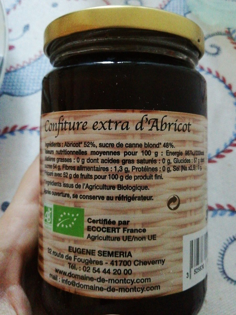 Les confitures demelin abricot - Ingrédients - fr