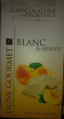 Chocolat blanc et abricot - Produit - fr