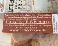 Pr'alinette - Ingrédients - fr