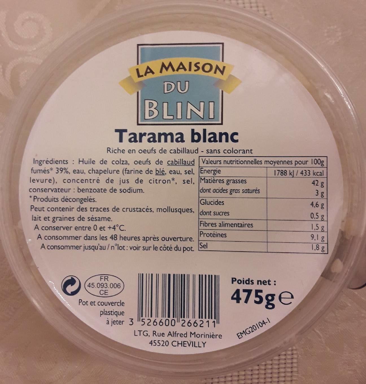 Tarama blanc - Product - fr