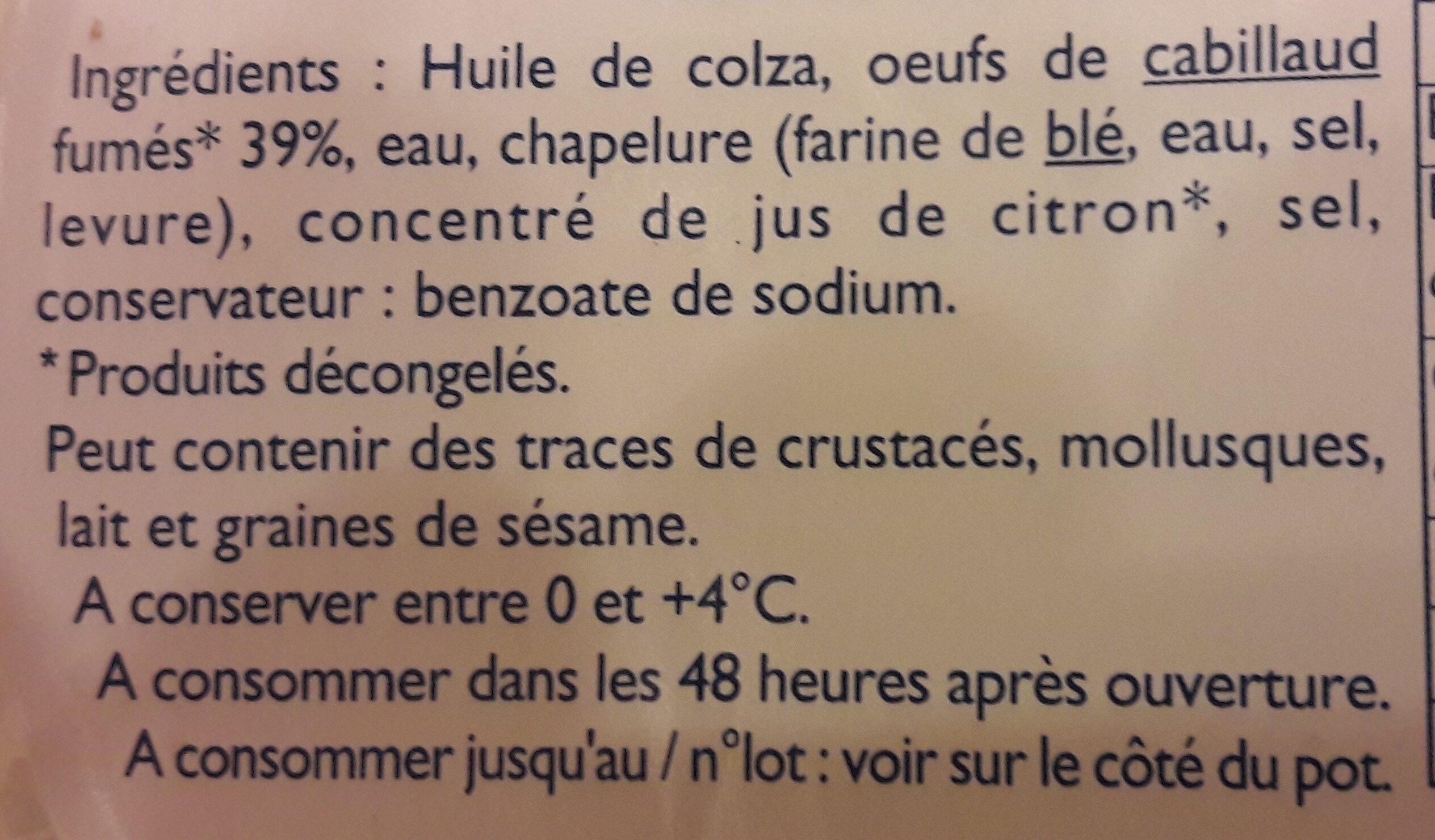 Tarama blanc - Ingrediënten - fr