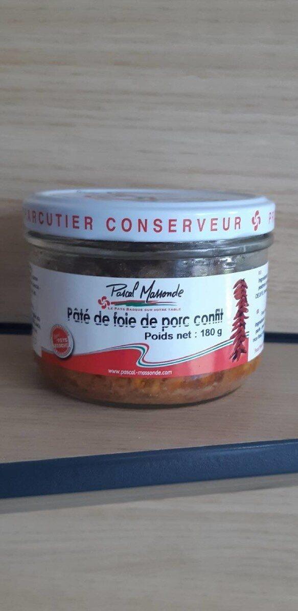 Pâté de foie de porc confit - Product - fr
