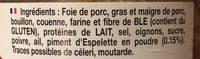 Pâté Basque Piquant au piment d'Espelette - Ingredients - fr