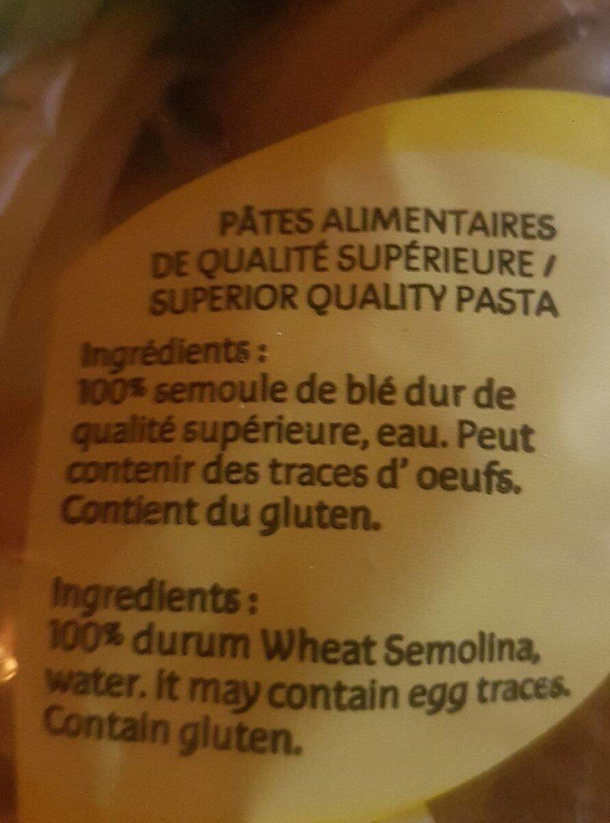Tagliatelle - Ingrédients