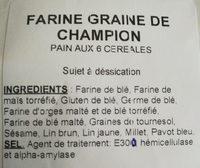 Farine graine de champion - Ingredients