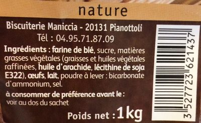 Canistrelli - Ingrediënten - fr