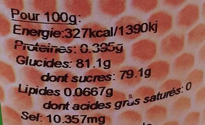 Miel de Garrigue - Nutrition facts