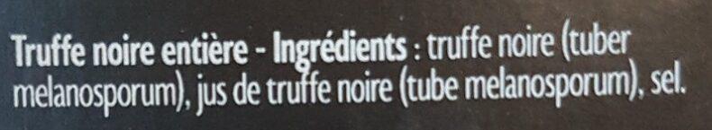 Truffe noire entière - Ingredients - fr
