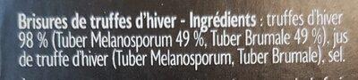 Brisures de truffe d'hiver - Ingredients - fr