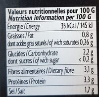 Brisures de truffe d'hiver - Nutrition facts - fr