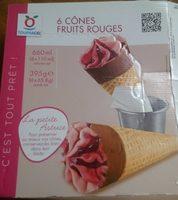 6 cônes fruits rouges - Produit