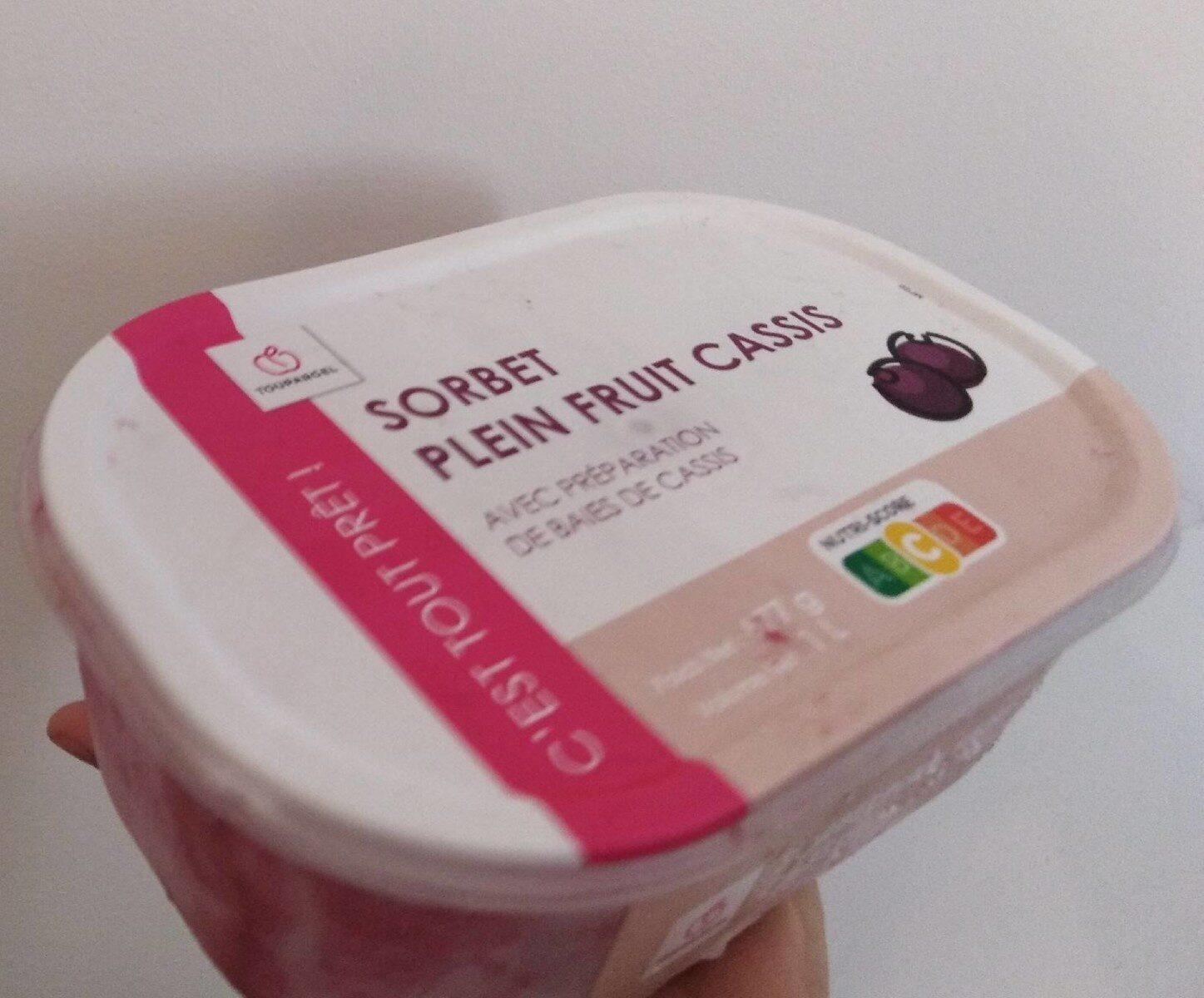 Sorbet plein fruit cassis - Product - fr