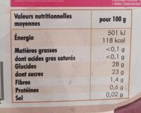 Sorbet plein fruit cassis - Nutrition facts - fr