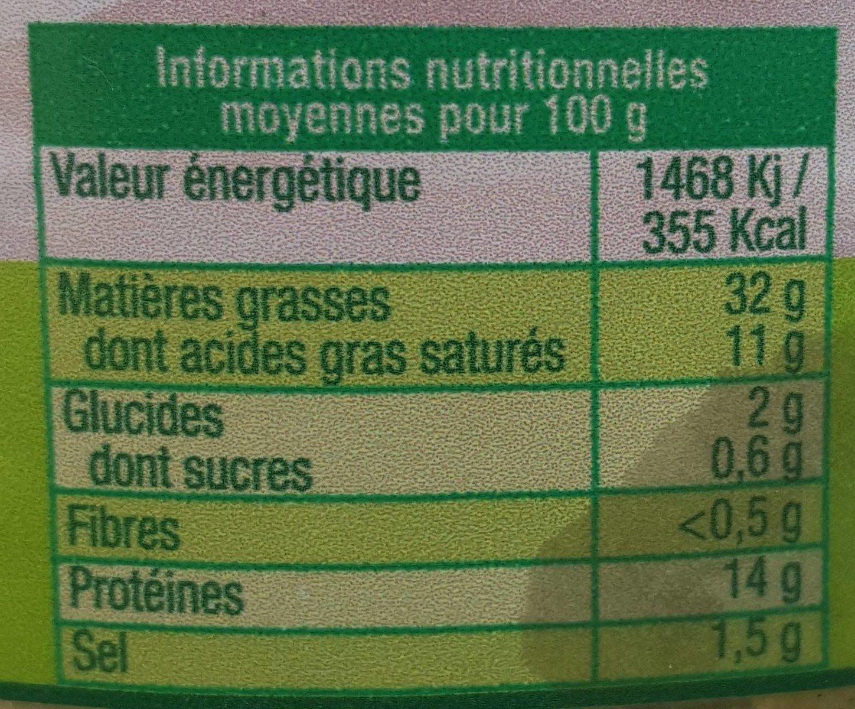Pâte à l'ail des Ours - Nutrition facts