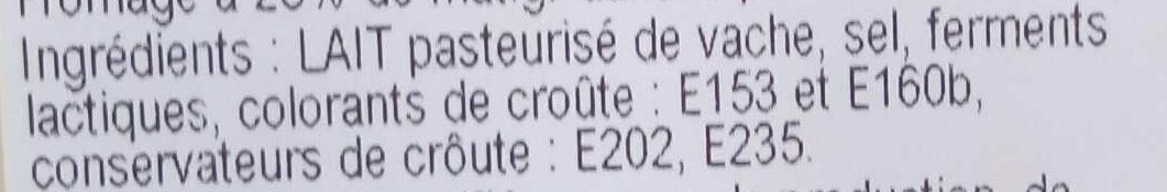 Tomme des Pyrénées IGP (28 %MG) - Ingredients