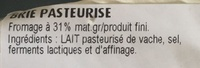 Brie - Ingrediënten - fr