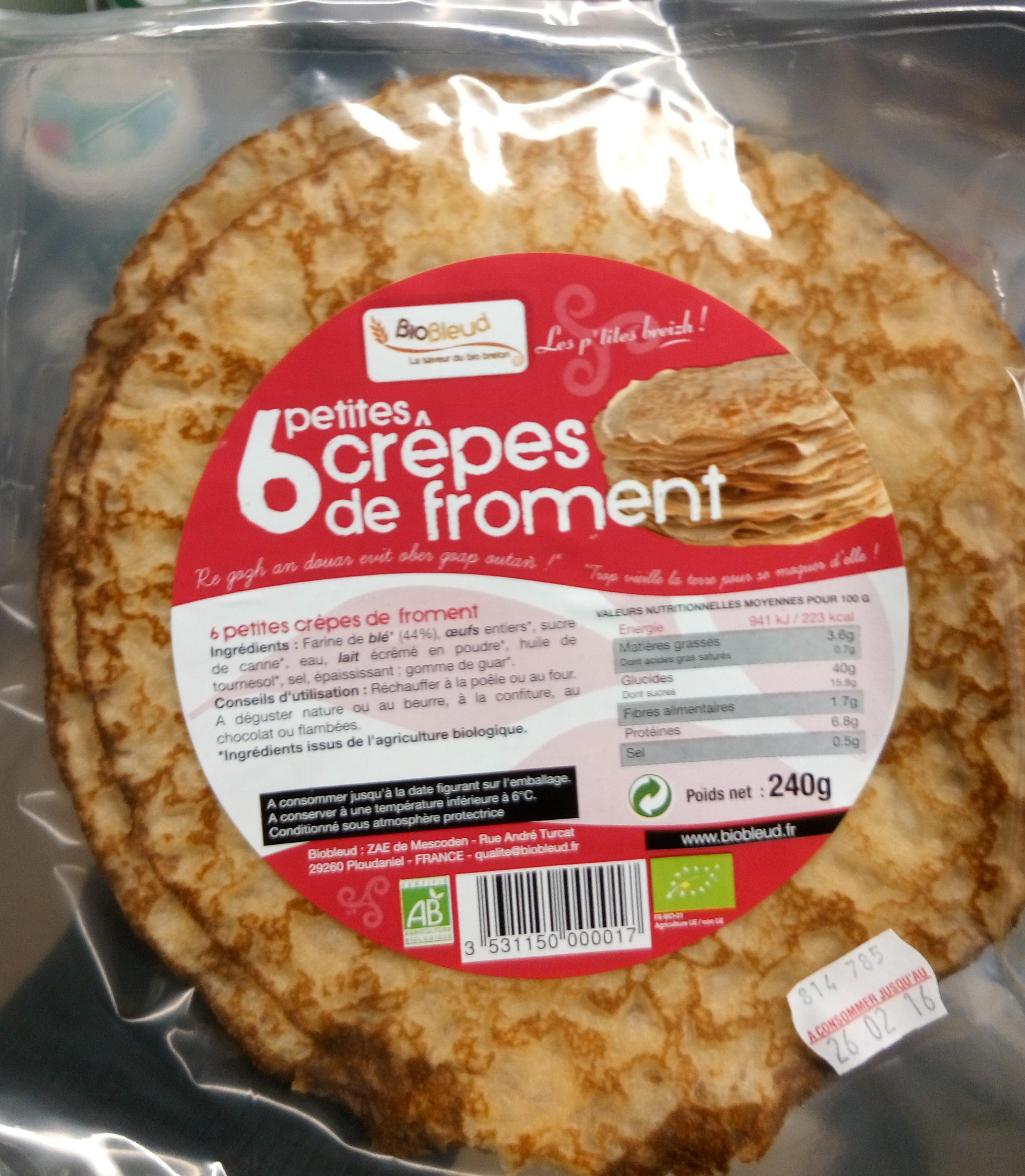 6 petites crêpes de froment - Produkt