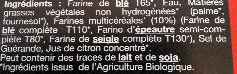 Pâte Brisée - Inhaltsstoffe
