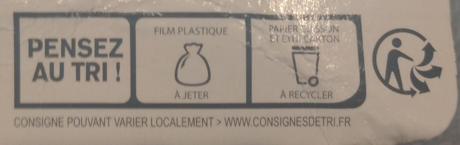 Pâte Brisée - Recycling instructions and/or packaging information - fr