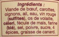 Daube à l'ancienne - Ingrédients - fr
